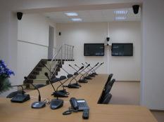 Зал селекторных совещаний в Главном Управлении МЧС по РМ (г.Саранск)